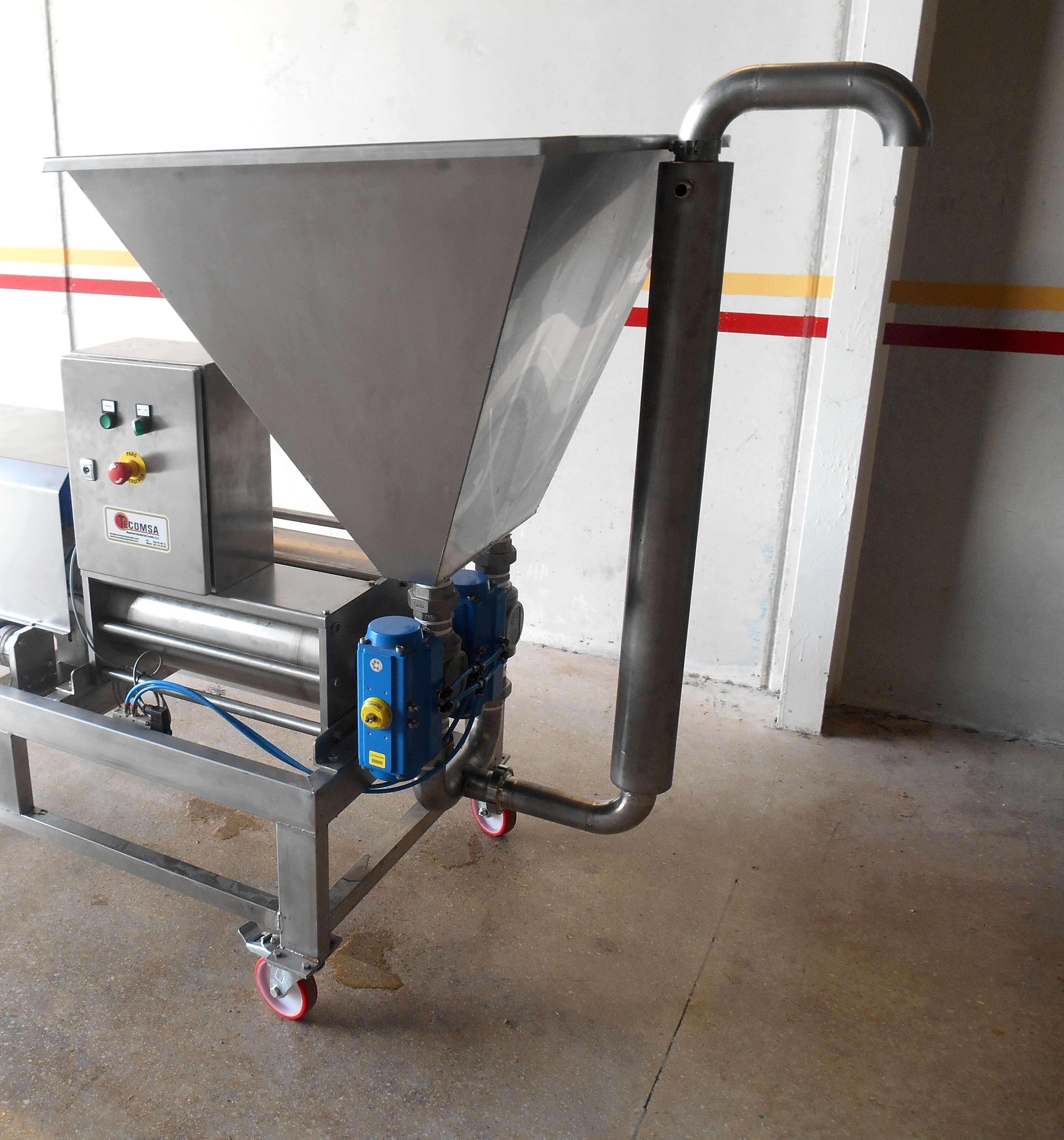 Dosificadora TECOMSA de 2 pistones productos densos desde 0 hasta 20 kilos